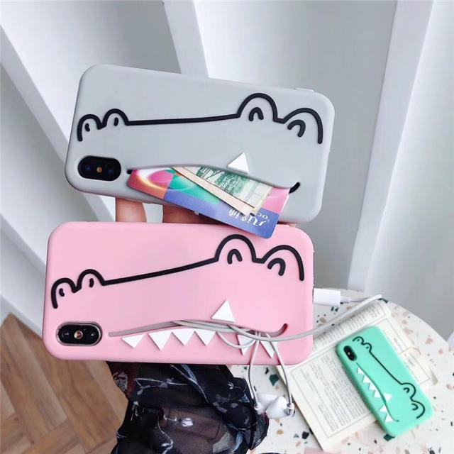 新品 iPhoneケース わに ワニ 収納 ピンクの通販 by スリム ✴︎12/28-1/5発送休❗️|ラクマ