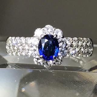 コーンブルー  サファイヤリング プラチナダイヤモンド(リング(指輪))