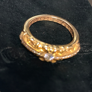 クロムハーツ(Chrome Hearts)のCHROME HEARTS★22K GOLD DIAMOND RING (リング(指輪))