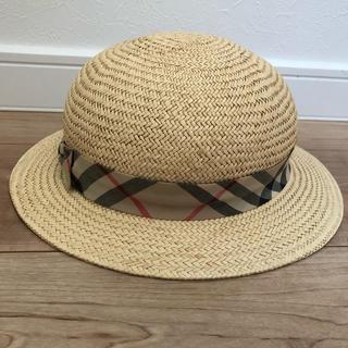 バーバリー(BURBERRY)のバーバリー麦わら帽子 52cm(帽子)