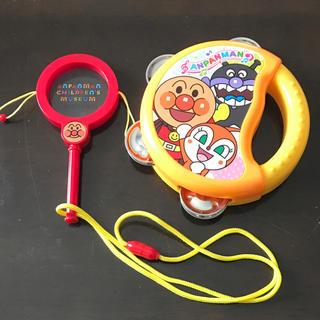 アガツマ(Agatsuma)の楽器おもちゃセット アンパンマン タンバリン でんでん太鼓(楽器のおもちゃ)