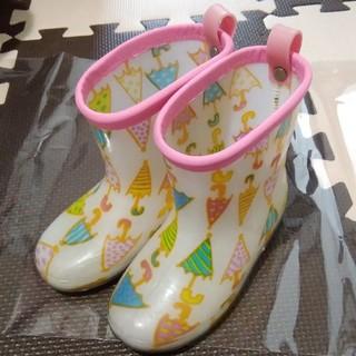 ampersand - かわいい☆アンパサンドのアンブレラ柄レインブーツ ピンク 16cm