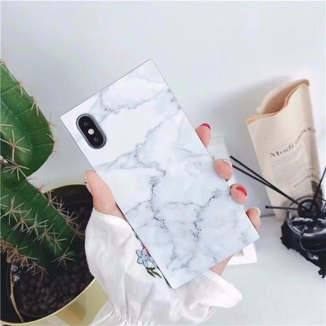 大理石柄 四角形 かわいいiPhoneケース 送料無料の通販 by xra's shop|ラクマ