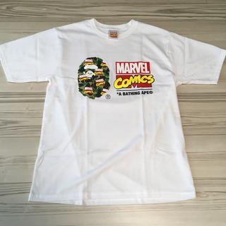 アベイシングエイプ(A BATHING APE)のBAPE MARVEL Tシャツ(Lサイズ)(Tシャツ/カットソー(半袖/袖なし))