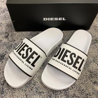 ディーゼル(DIESEL)のDIESELディーゼル新品ロゴシャワーサンダル人気ホワイト箱付き送料込み(サンダル)