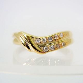 K18 ダイヤモンド リング 10号[f456-18](リング(指輪))