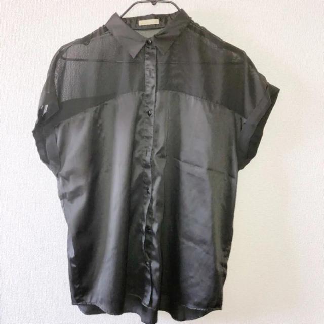 GU(ジーユー)のGU 半袖シャツ レディースのトップス(シャツ/ブラウス(半袖/袖なし))の商品写真