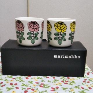 マリメッコ(marimekko)の【新品】marimekko  ヴィヒキルース  ラテマグ (グラス/カップ)