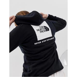 ザノースフェイス(THE NORTH FACE)の【Mサイズ】新品 ロゴ パーカー North face ブラックレディース(パーカー)