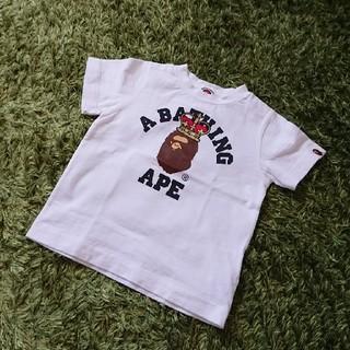 アベイシングエイプ(A BATHING APE)のBAPE KIDS  A BATHING APE Tシャツ 100(Tシャツ/カットソー)