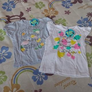 シマムラ(しまむら)のTシャツ 2枚 女の子 90 新品 タグ付き(Tシャツ/カットソー)