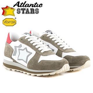 【98】Atlantic STARS ホワイト×グレー size 40(スニーカー)