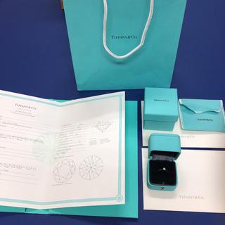 ティファニー(Tiffany & Co.)のティファニー Pt950 ダイヤ クラシックソリティアリング(リング(指輪))