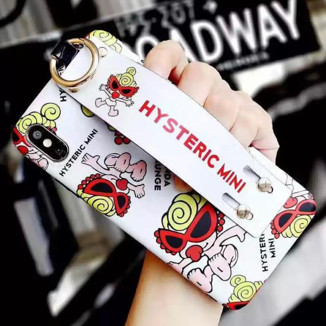HYSTERIC MINI - ヒステリックミニ  ハンドグリップつき iPhone XR 用 ケース ホワイトの通販 by love2pinky's shop|ヒステリックミニならラクマ
