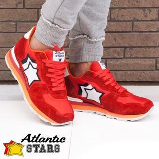 【111】Atlantic STARS レッド スニーカー size 40(スニーカー)