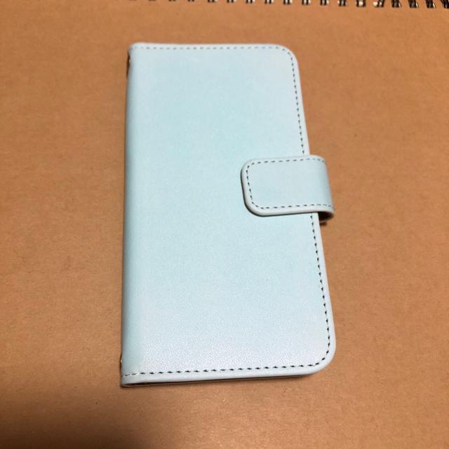 スマホケース  ライトブルー  手帳型  iPhone の通販 by みさみさ's shop|ラクマ
