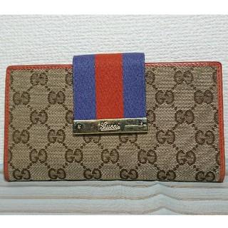 53a22a6926dc グッチ(Gucci)のGUCCI/グッチ 181668 シェリーライン GGキャンバス 財布(財布