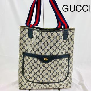 グッチ(Gucci)の大人気 VINTAGE GUCCI グッチ シェリーライン トートバッグ(トートバッグ)