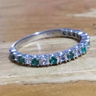 冬姫様 専用❗️ハーフエタニティ✨エメラルド&ダイヤリング 約22号(リング(指輪))