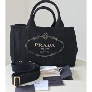 be56ff0c3829 プラダ(PRADA)のプラダ PRADA カナパ 一番人気カラーブラック 未使用 付属