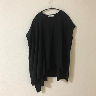 エンフォルド(ENFOLD)のENFOLD スビン天竺2アシンメAラインTシャツ(Tシャツ(半袖/袖なし))