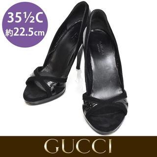 07ff4d99e543 グッチ(Gucci)のグッチ 異素材 オープントゥ パンプス 35 1/2C(