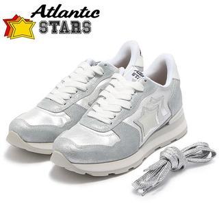 【L11】Atlantic STARSシルバー系スニーカー size 40(スニーカー)