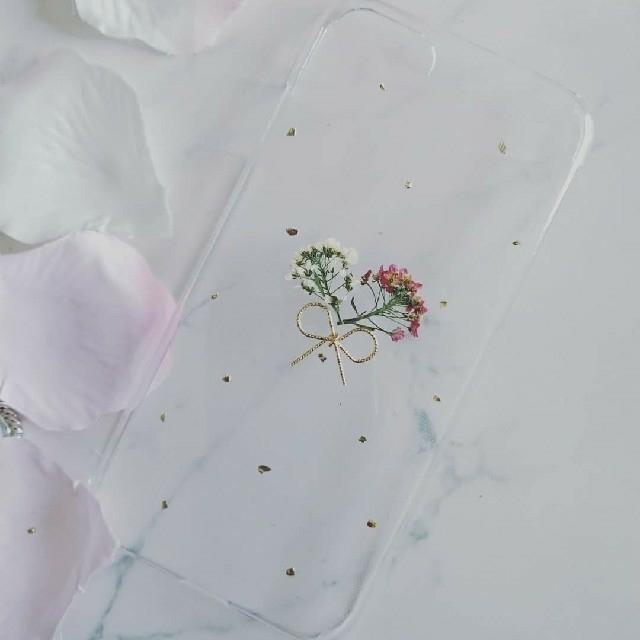 iphoneケースブランド人気 - iPhoneケース ハンドメイド アリッサムの押し花の通販 by RSI's shop|ラクマ