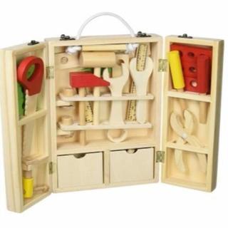 ■収納できる 木製ツールボックス(知育玩具)