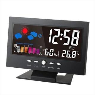 ☆デジタル温度湿度計 LCD温度湿度計(置時計)