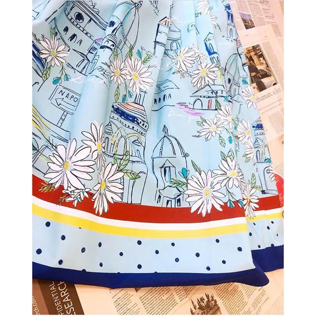 Chesty(チェスティ)のプリントスカート レディースのスカート(ひざ丈スカート)の商品写真