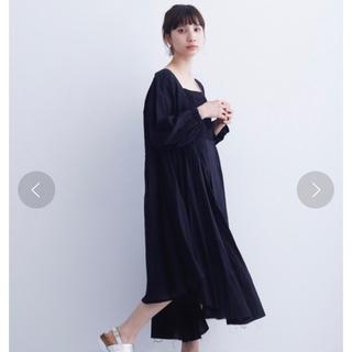 メルロー(merlot)のmerlotインド綿花刺繍ワンピース(ロングワンピース/マキシワンピース)