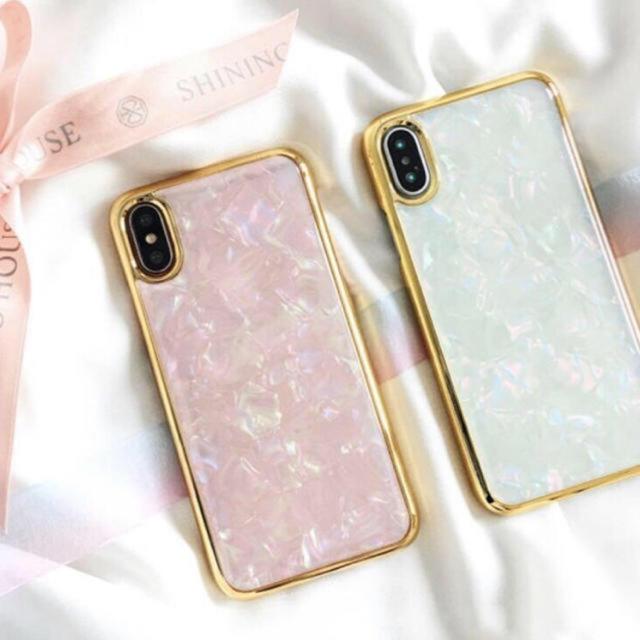 iphoneケース オーダー / 新品 ジュエル シェル iPhoneケース 6 7 8 X XR 対応の通販 by peach.Jr's shop|ラクマ