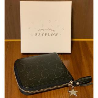 ベイフロー(BAYFLOW)のベイフロー スターミニウォレット  BAYFLOW 財布 二つ折り 黒(折り財布)