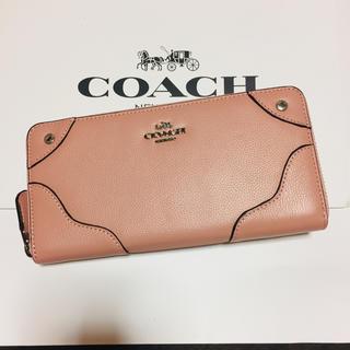 c4959ffb72dd コーチ(COACH)の新品【COACH コーチ】長財布 ミッキーグレーンレザー ピンク