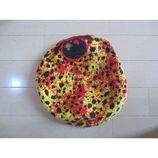 ヴィヴィアンウエストウッド(Vivienne Westwood)のヴィヴィアンウエストウッド レオパードスカルベレー帽子 廃盤(ハンチング/ベレー帽)