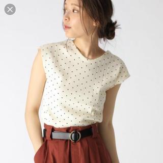 ミスティウーマン(mysty woman)のドットワッフルTシャツ mysty woman(Tシャツ(半袖/袖なし))