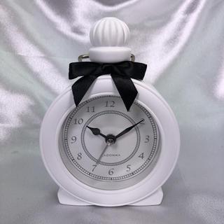 フランフラン(Francfranc)の【新品】パヒューム型アラーム時計(ホワイト)(置時計)