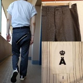 エィス(A)の日本製 A エイス ウール サルエル スラックス ピンストライプ(スラックス)