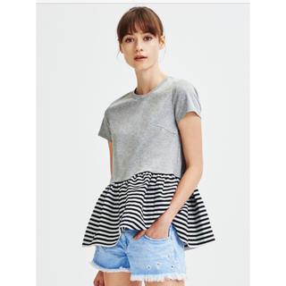 バーニーズニューヨーク(BARNEYS NEW YORK)のお値下げ 新品✨ヘプラムT グレー38(Tシャツ(半袖/袖なし))