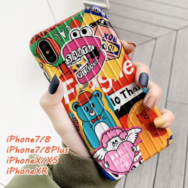 iPhone7/8 X/XS XR ポップなアニメ柄 ソフトケースの通販 by エランドル's shop|ラクマ