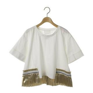 エンフォルド(ENFOLD)のELENDEEK ゴールドプリーツTシャツ(Tシャツ(半袖/袖なし))