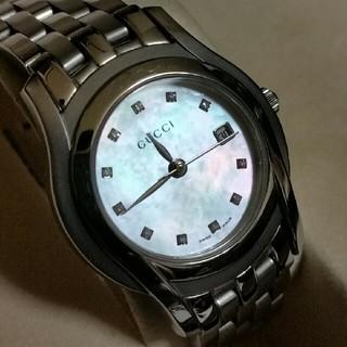 93332b8f1c36 グッチ(Gucci)のGUCCIグッチ 5500L 11P ダイヤ シェル レディース腕時計(腕時計)