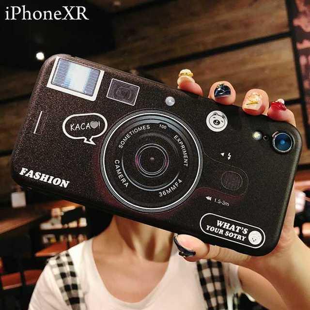 iphone6s ケース おしゃれ かわいい 、 可愛い カメラ iPhoneXR ケース ブラック アイフォンxr カバー の通販 by トシ's shop|ラクマ