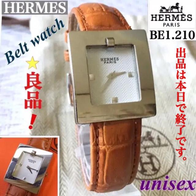 Hermes - HERMES/エルメス メンズ腕時計 ベルトウォッチ BE1.210 クォーツの通販 by '♡ayaka.・:*s shop |エルメスならラクマ