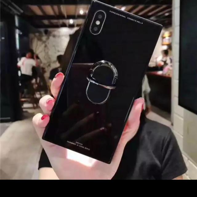 iPhone xr ブラック スクエアタイプ✩.*˚の通販 by サングラスやさん's shop|ラクマ