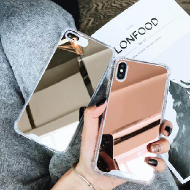 カラーミラーシンプルiPhoneXRケースの通販 by Dingle mobile mart|ラクマ