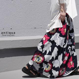 アンティカ(antiqua)のアンティカ 花柄レトロ ロングスカート(ロングスカート)