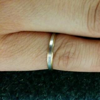 k18ゴールドプラチナシンプルリング(リング(指輪))