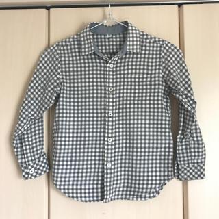 ユニクロ(UNIQLO)のギンガムチェック長袖シャツ 120(ブラウス)